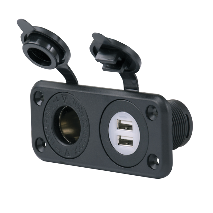 SeaLink Dual USB Charger Ports and 12V Receptacle 1