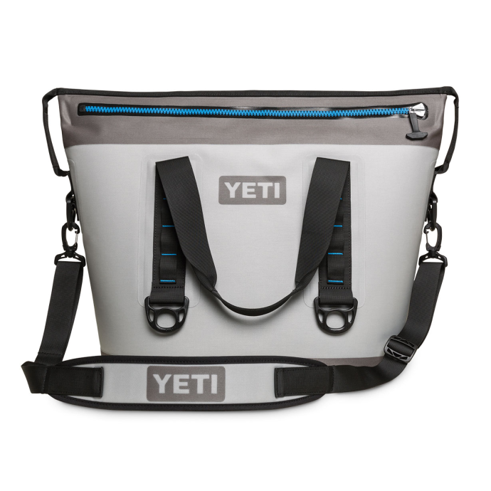 Discontinued: Hopper Two 30 Qt Soft-Sided Cooler - Gray & Blue 1