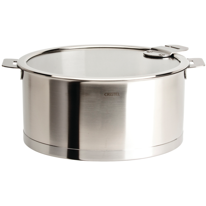Strate Stew Pan with Glass Lid - 5.5 or 7 Quart 1