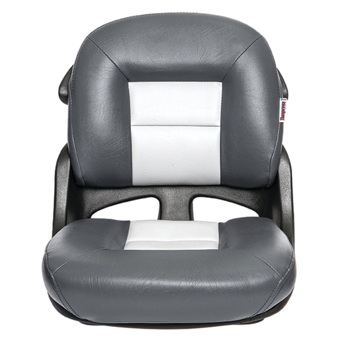 Discontinued: Fisherman's Armless Low Back Helm Seat - Charcoal/Gray 1