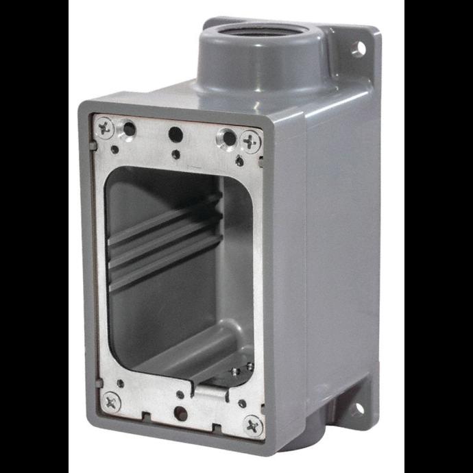 "FD Watertight Box - 3/4"" - Gray 1"