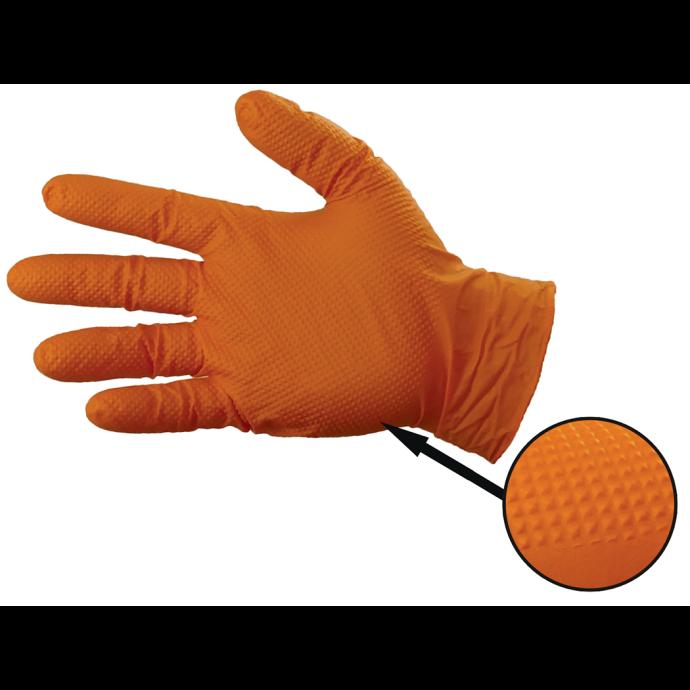 Gloveworks HD Orange Powder-Free Nitrile Gloves - 8 Mil 1