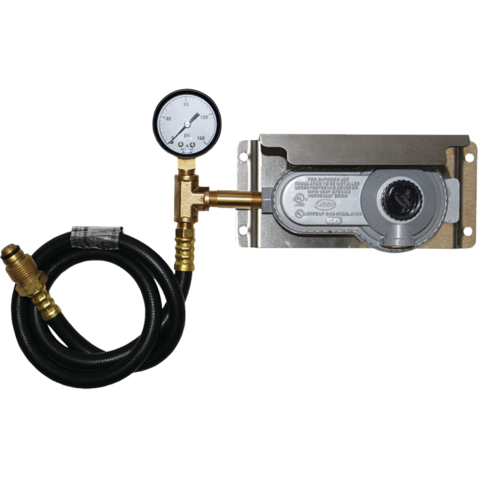 2 Stage Propane Regulator with Gauge & Stainless Steel Mounting Bracket 1