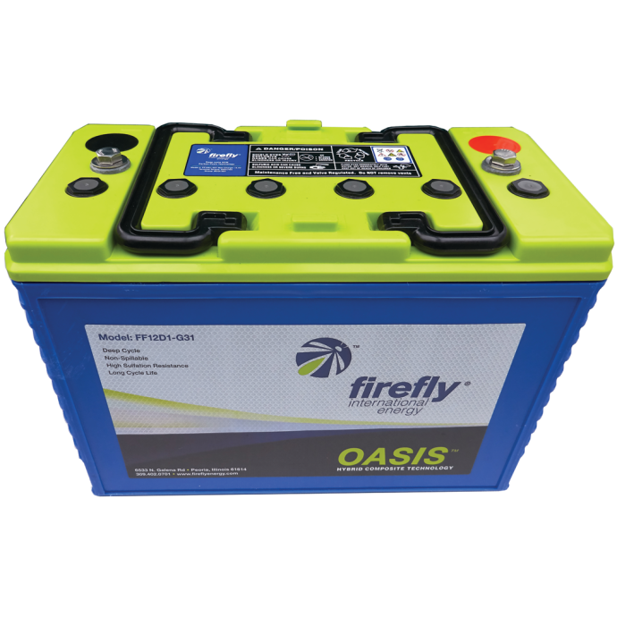 Firefly 12V Group 31 AGM Deep Cycle Battery - 110 Ah, 600 CCA 1