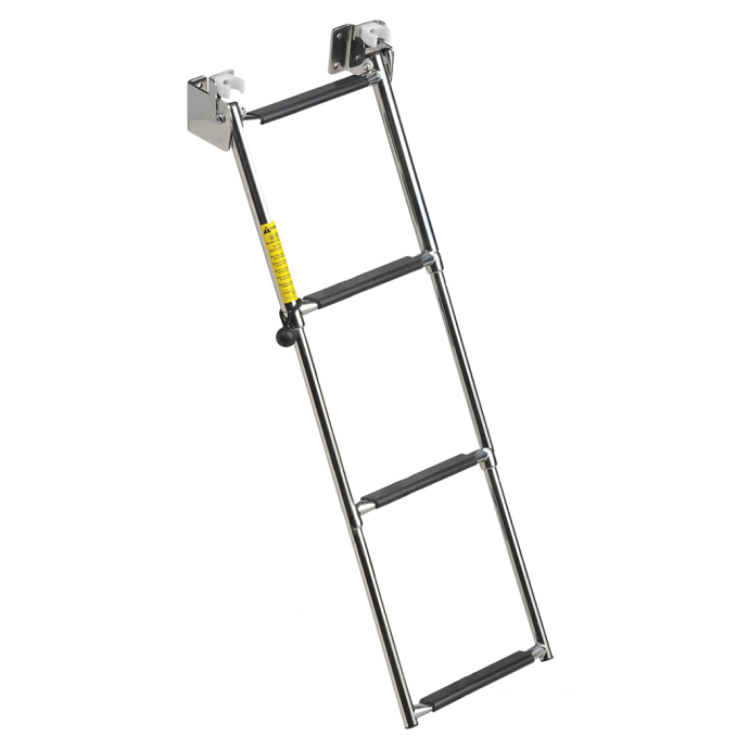 Garelick Compact Telescoping Transom Ladder, 4-Steps 1