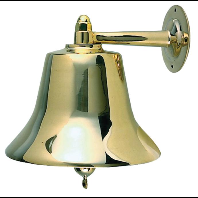 """Fig. 0158 Fog Bell - 12"""" Polished Cast Bronze 1"""