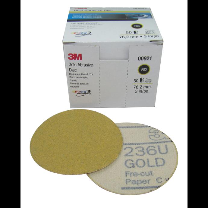 6IN P120C HOOKIT DISC 236U GLD (100)