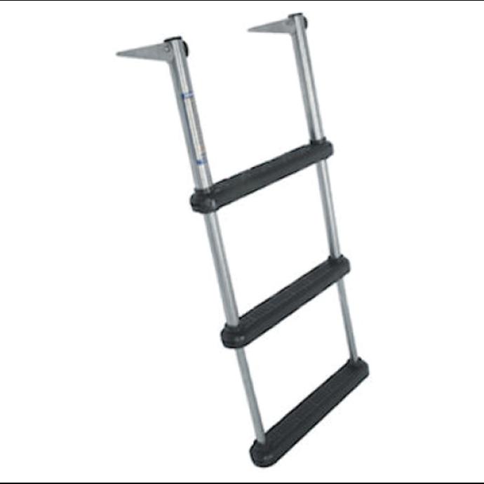 Over Platform Telescoping Drop Ladders