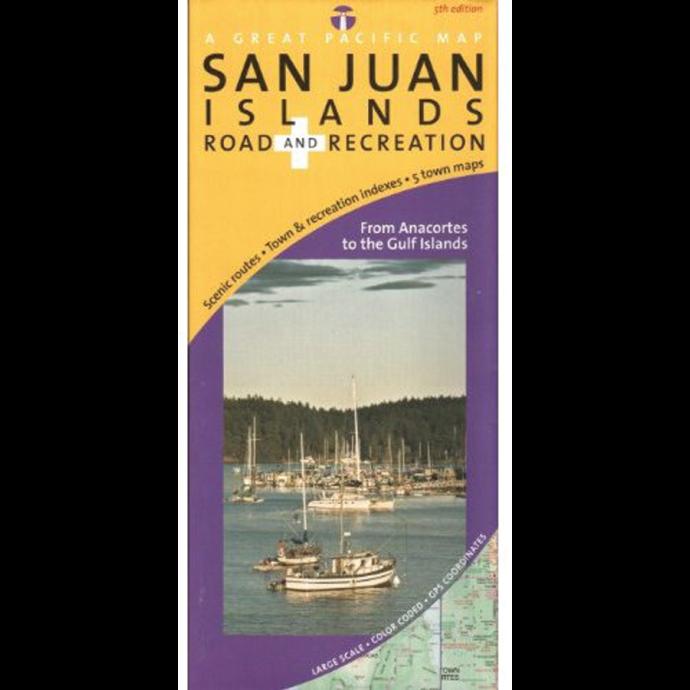 San Juan Islands Road and Recreation Map 1