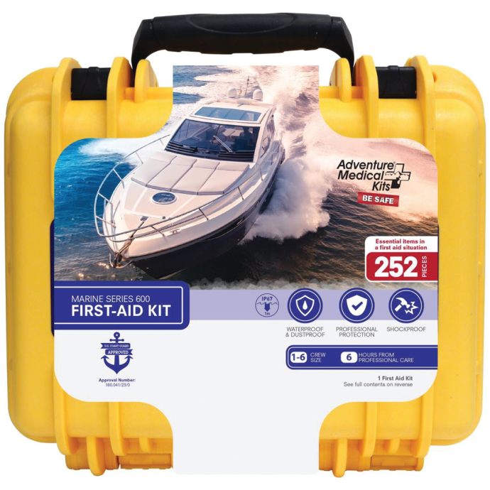 front of Adventure Medical Kits Marine 600 Medical Kit with Waterproof Case