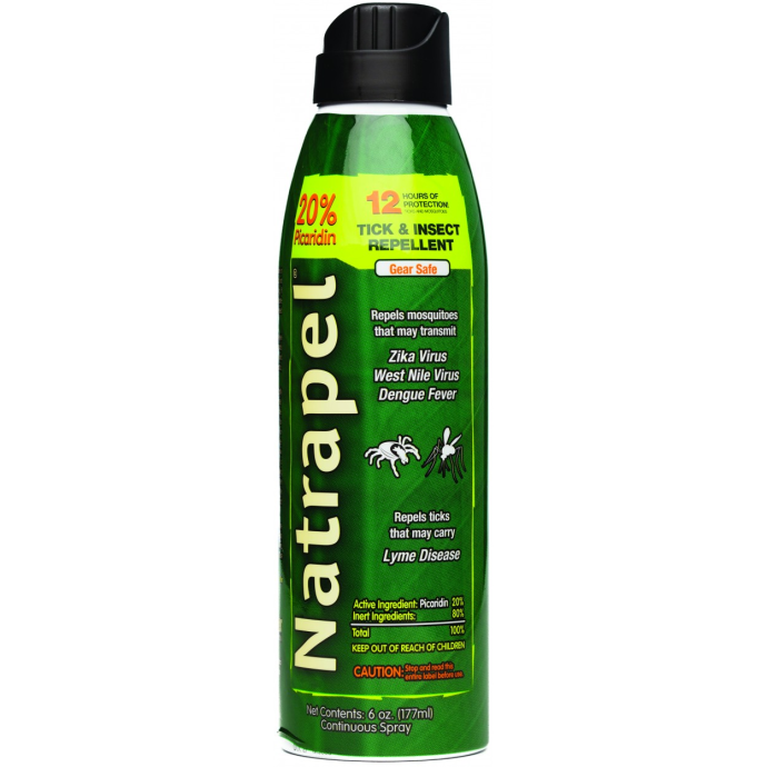 side view of Adventure Medical Kits Natrapel 12-hour 6oz Continuous Spray