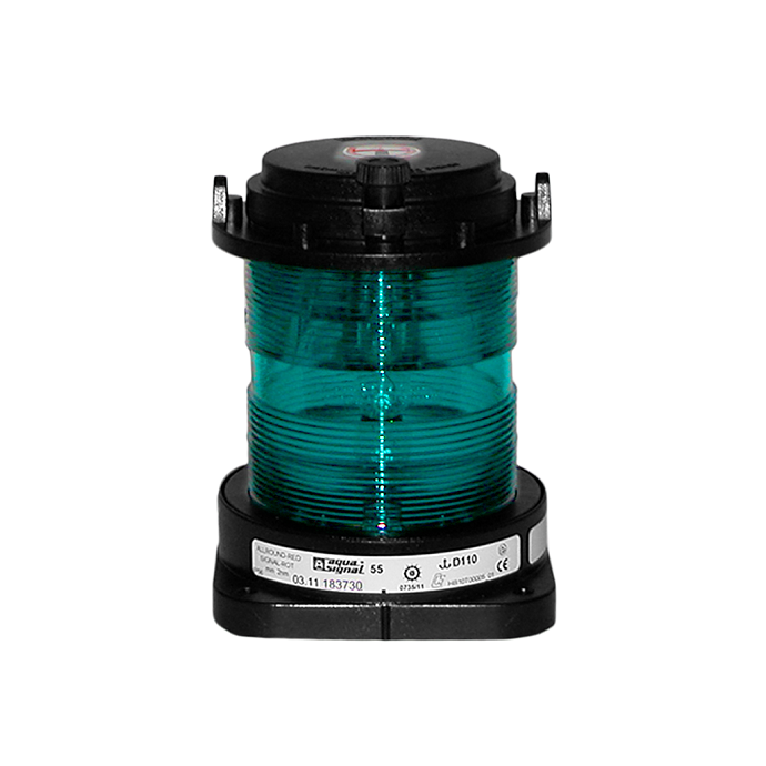 Aqua Signal Series 55 Commercial Navigation Light - All-round, Green