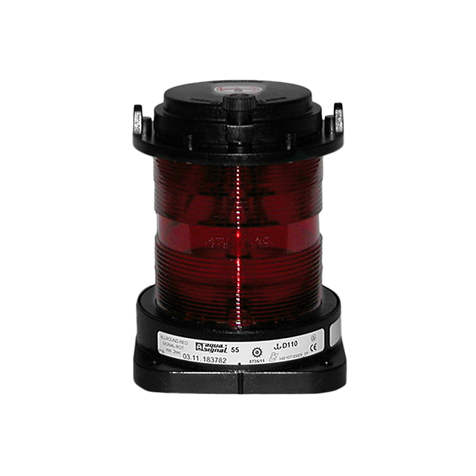 Aqua Signal Series 55 Commercial Navigation Light - All-round, Red
