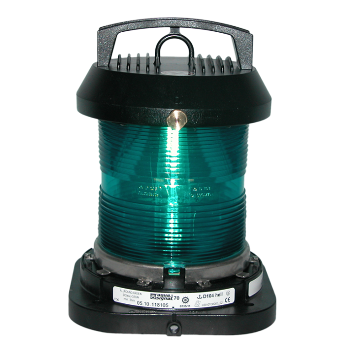 Aqua Signal Series 70 Single Lens Commercial Navigation Light - All-round, Green