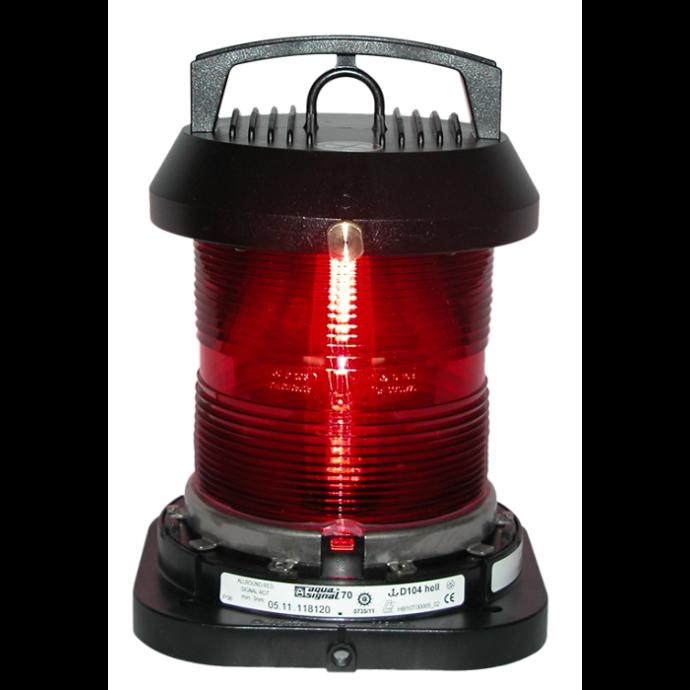 Aqua Signal Series 70 Single Lens Commercial Navigation Light - All-round, Red