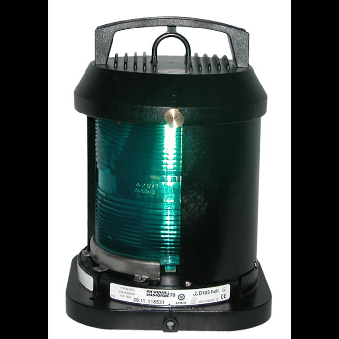 Aqua Signal Series 70 Single Lens Commercial Navigation Light - Starboard