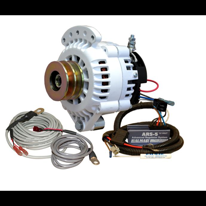 120A 12V 6-Ser Alternator / Regulator Kit - 2 Belt, 1 Foot, VUP, Max Charge