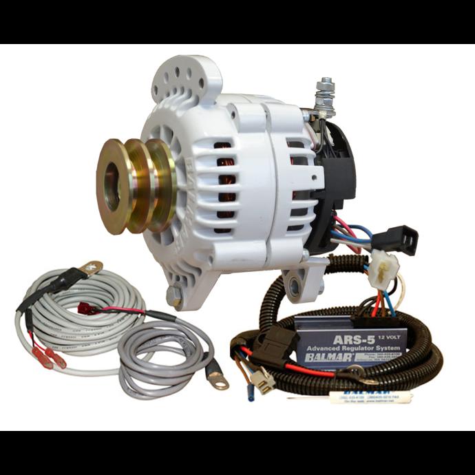 """Balmar 120A 12V 6-Series Alternator / Regulator Kit - Dual V Belt, 3.15"""" Dual Foot"""