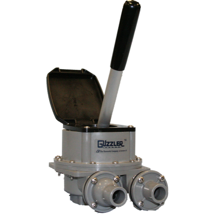 """front view of Bosworth Guzzler 450 Series Thru-Deck Manual Pump - 1-1/8"""" Hose, Up to 10 GPM"""