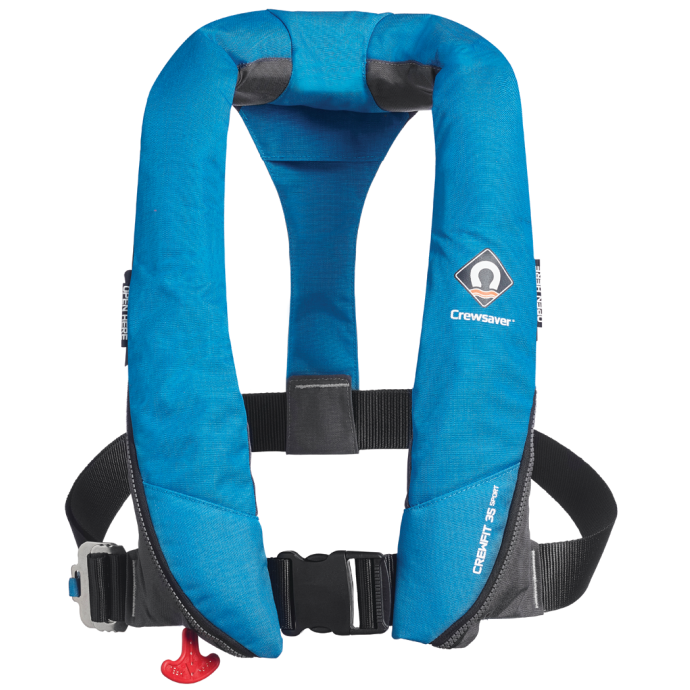 Crewsaver Crewfit 35 Sport Automatic Inflatable PFD, Blue