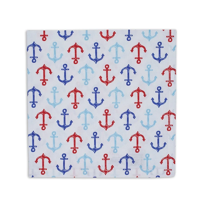 90999 of Design Imports India Nauti Anchors Napkins