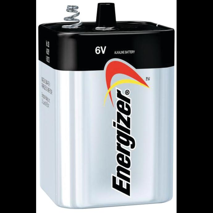 6V Energizer Alkaline Battery - Spring Terminals
