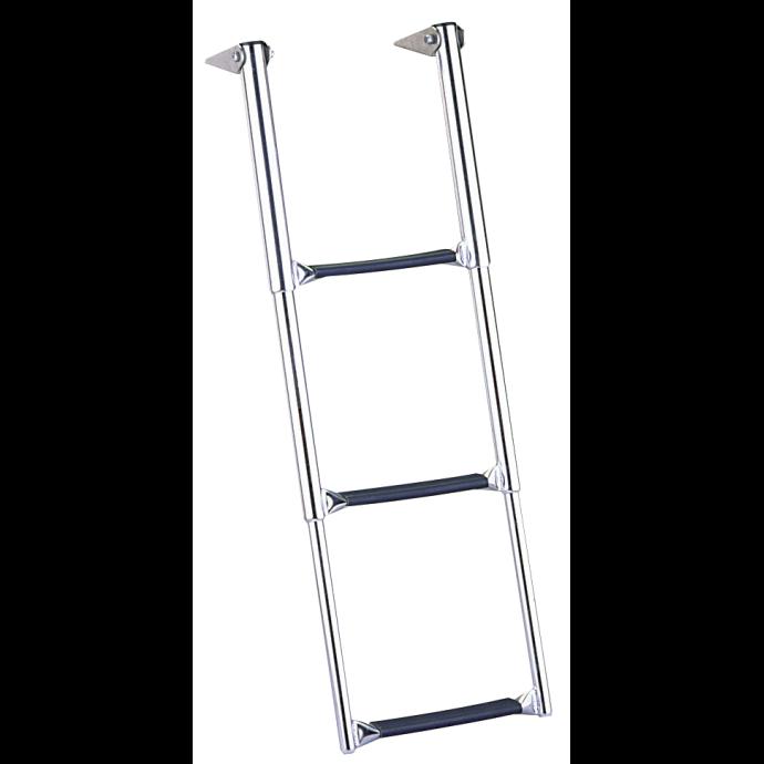 Over Platform Telescoping Drop Ladder