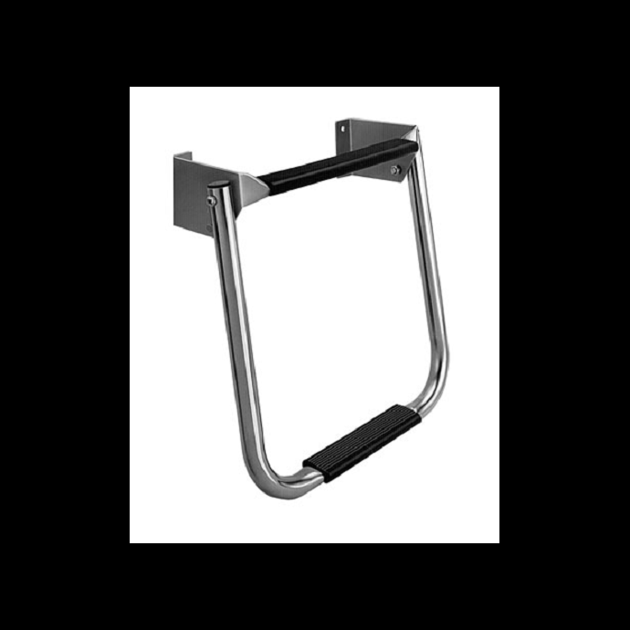Compact Stainless Steel Transom Ladder, 2 Steps