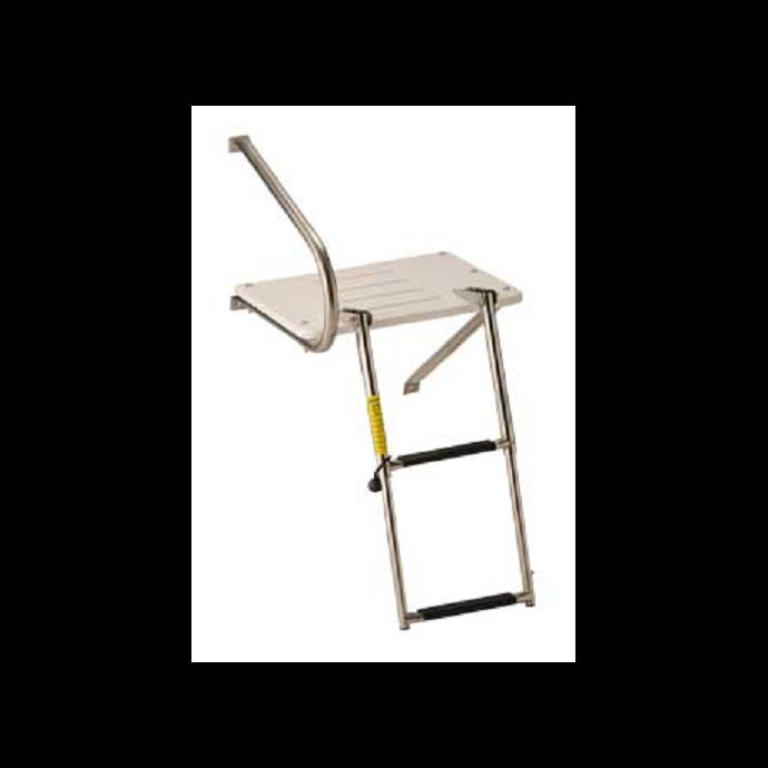 Transom Platform with Telescoping Ladder, 2 step