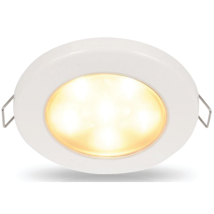 "Hella 3-3/4"" Warm White EuroLED 95 LED Recessed Down Light - White Bezel, Clip"