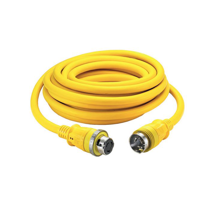 hbl61cm42led of Hubbell 50 Amp 125/250V Shore Power Cordsets - Yellow