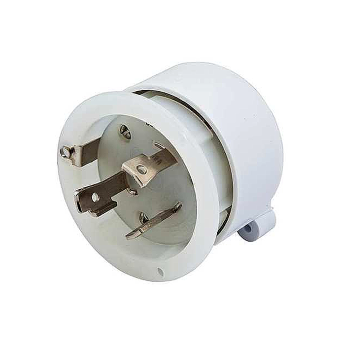 angle view of Hubbell Interior for 30 Amp 125V Shore Power Inlets