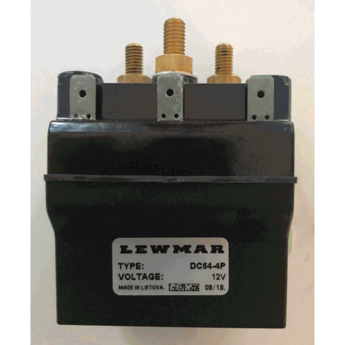 Front View of Lewmar Windlass Dual Direction Compact Sealed Contactor / Solenoids
