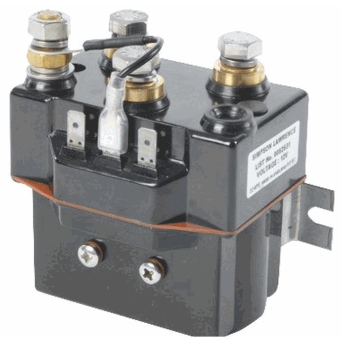 Top View of Lewmar Windlass Dual Direction Sealed Contactor / Solenoids