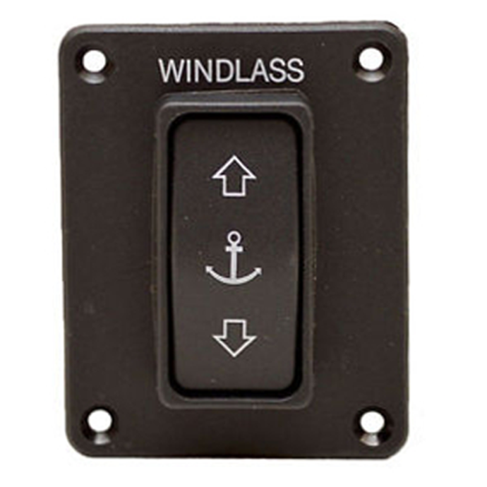 front view of Lewmar Windlass Guarded Rocker Switch