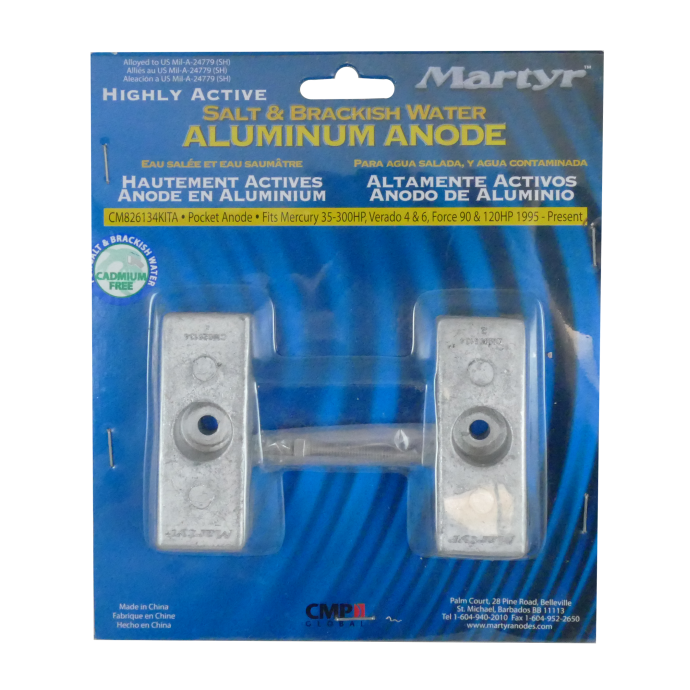 CM826134KITA of Martyr Aluminum Anode Kits - Mercury Force/Mariner