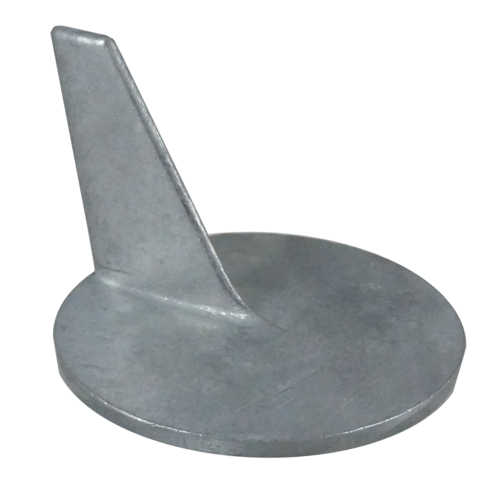 top view of Martyr Mercruiser Inboard/Outboard Anodes - Zinc - Cutdown Racing Skeg