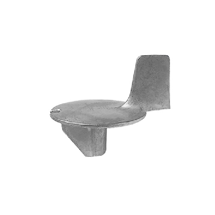 side view of Martyr Mercury Force/Mariner Outboard Trim Tab Anode - Zinc