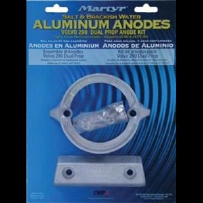 package of Martyr Volvo Penta 290 Dual Prop Engine Anode Kit - Aluminum