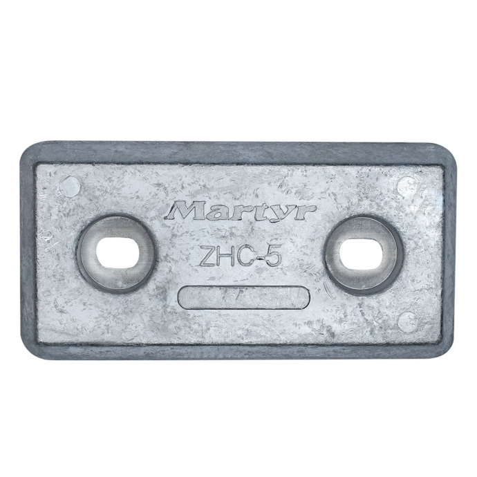 """front view of Martyr ZHC5 Taiwan Style 8"""" Plate Anode - Aluminum"""
