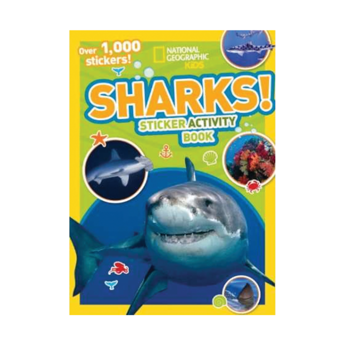 ran334 of Nautical Books National Geographic Kids: Sharks Sticker Activity Book