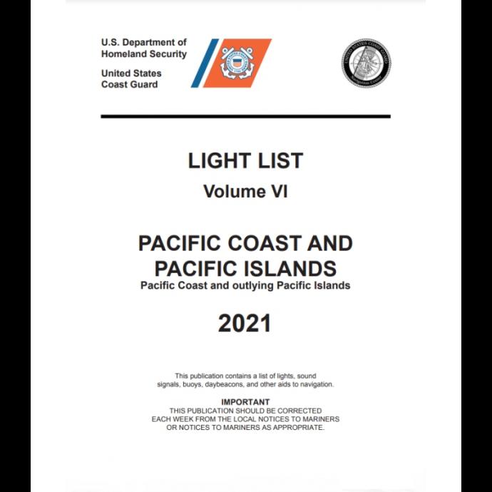 ihp-ll6 of Nautical Books USCG Light List VI: Pacific Coast and Pacific Islands