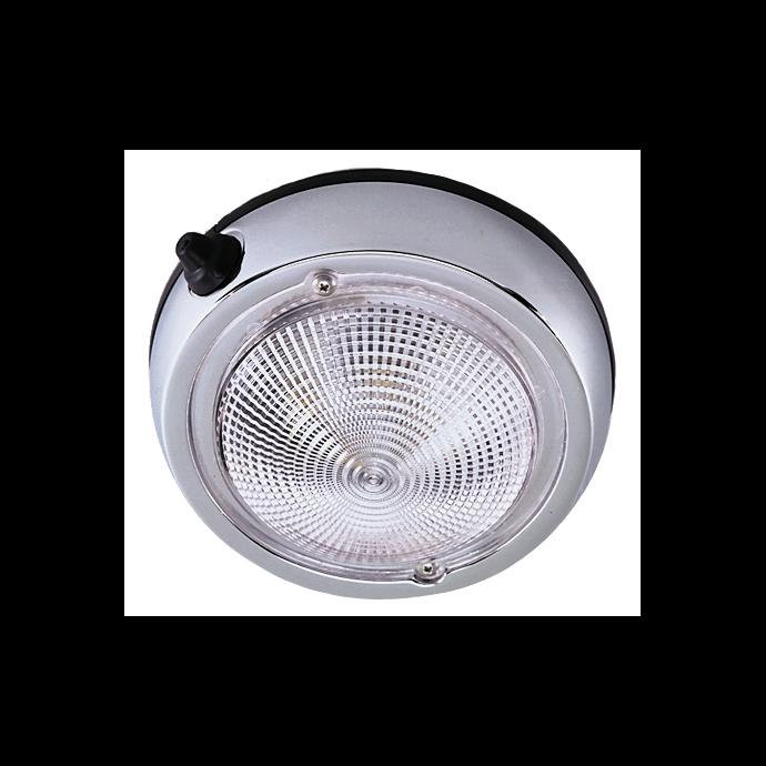 "5"" Surface Mount Chromed Dome Light - Fig. 0300"