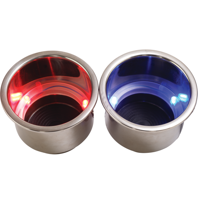 LED Flush Mount Combo Drink Holder With Drain Fitting