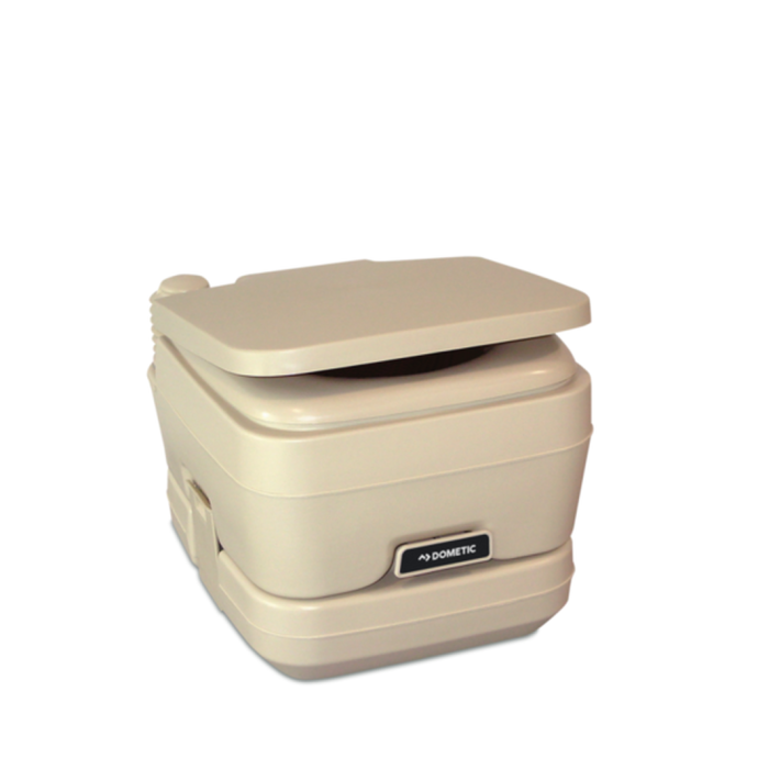 Lid Detail of SeaLand by Dometic SaniPottie 962 Manual Bellows Flush Portable Toilet - 2.5 Gal, No Brackets