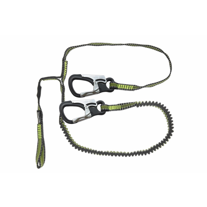 Spinlock Performance Safety Tether - Hitch Loop, 2 Custom Clips, Stretch Safety Line