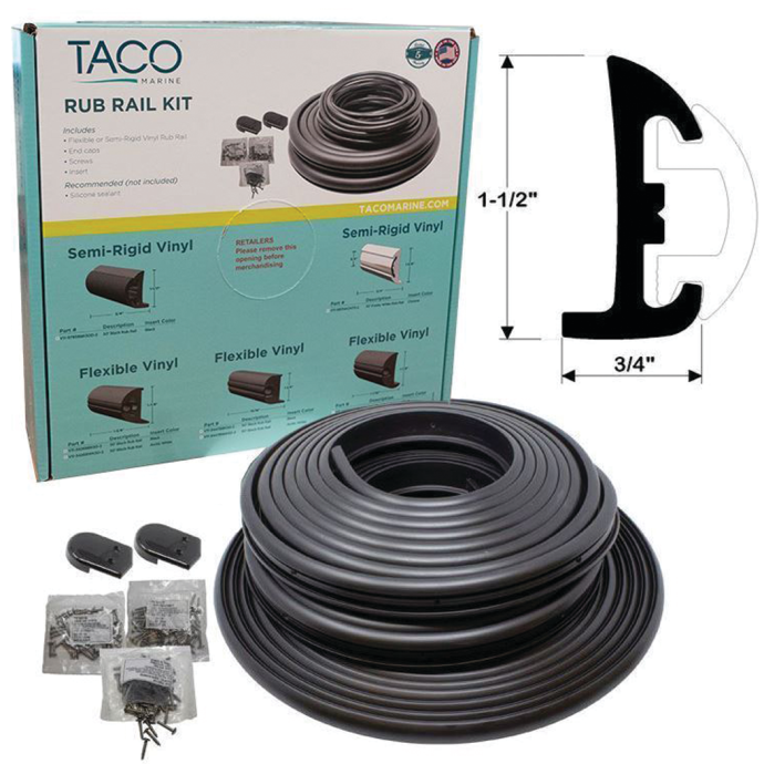 Taco Semi-Rigid Vinyl Rub Rail Kit