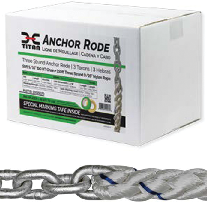 3-Strand Pre-Spliced Chain & Twisted Rope Anchor Rode