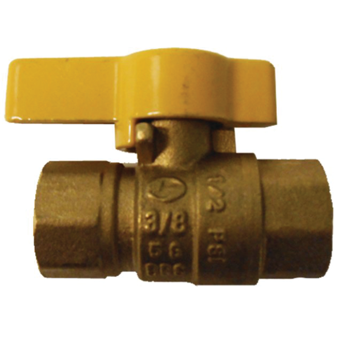 3/8 in AGA Gas Ball Valve - Brass