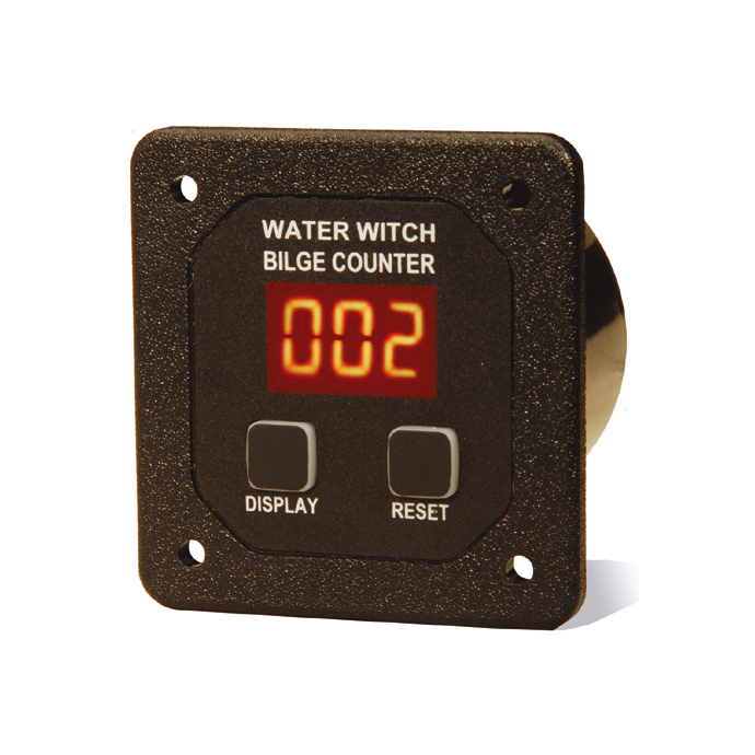 Water Witch Bilge Pump Cycle Counters - with Square Face